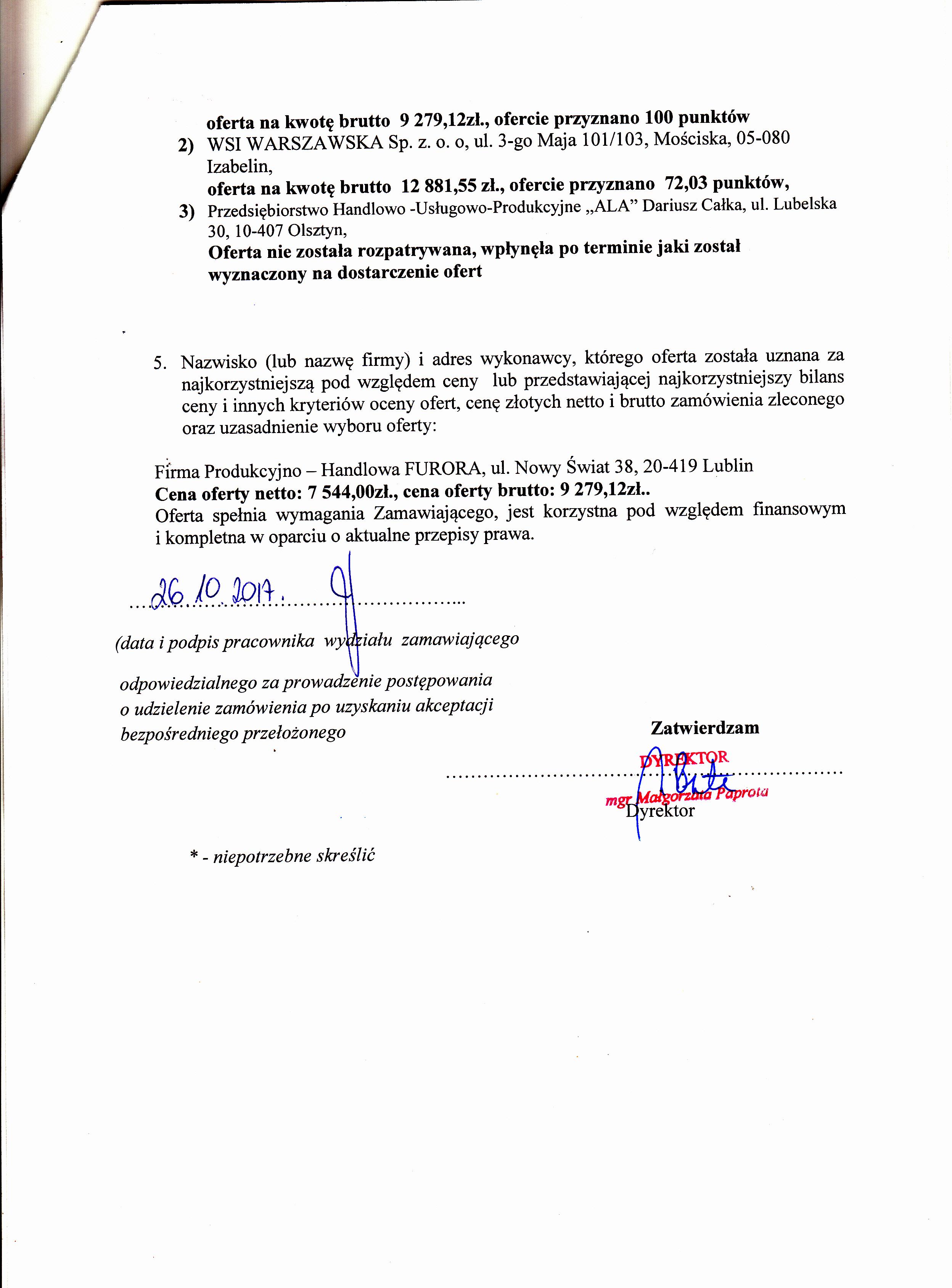 f823f63847 Archiwum z 2017-11-27 - Zamówienia publiczne - Powiatowy Zakład ...